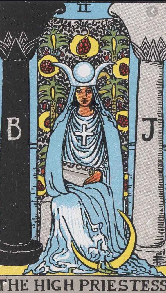 タロットウエイト版女教皇