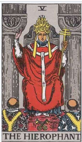 タロットウエイト版 教皇